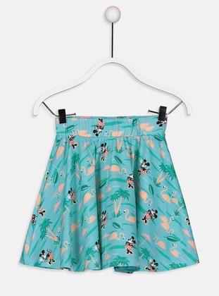 Printed - Blue - Girls` Skirt - LC WAIKIKI
