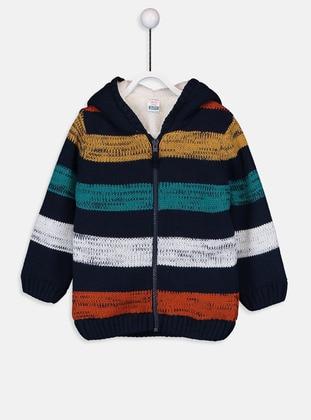 Stripe - Navy Blue - Baby Cardigan