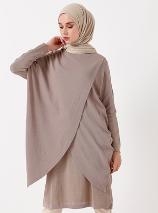 Beige - Unlined - Viscose - Suit