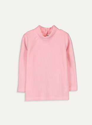Polo neck - Pink - Girls` T-Shirt