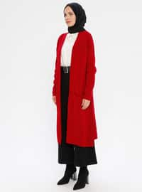 Red - Unlined - Acrylic -  - Knit Cardigans