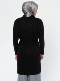 Black - Crew neck - Acrylic - Viscose - Wool Blend - Tunic