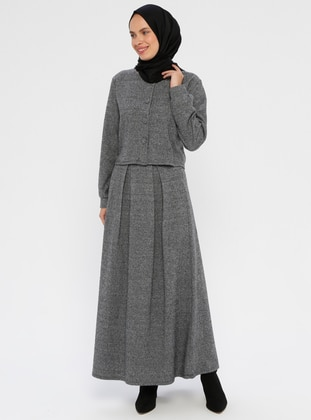 Gray - Unlined - Viscose - Suit
