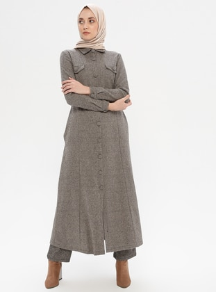 Mink - Unlined - Point Collar -  - Abaya