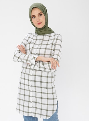Checkered - Point Collar -  - Tunic