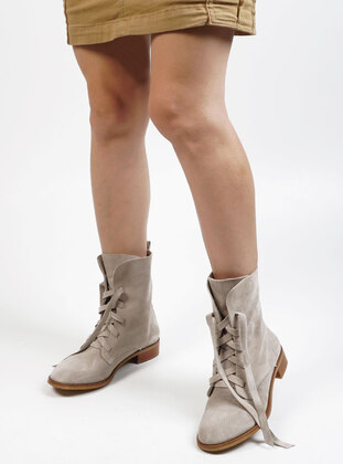 Beige - Boots