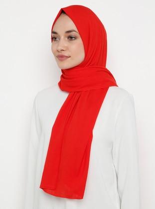 Red - Plain -  - Shawl
