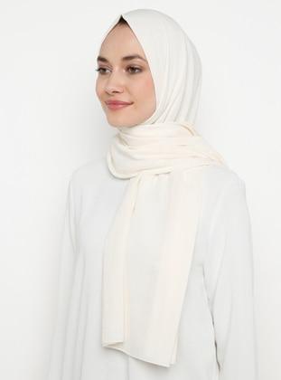 Cream - Plain -  - Shawl
