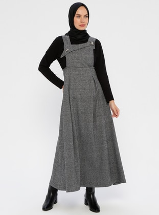 Gray - Unlined - Viscose - Dress
