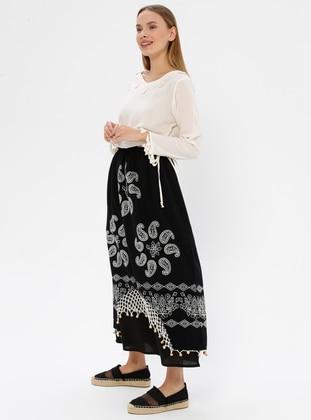 Black - Multi - Unlined -  - Skirt