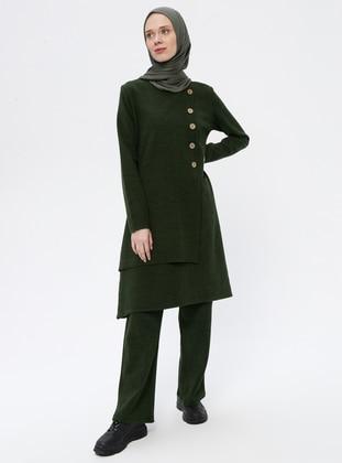 Khaki - Unlined -  - Suit