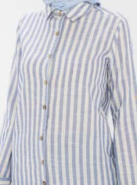 Saxe - Stripe - Point Collar -  - Tunic