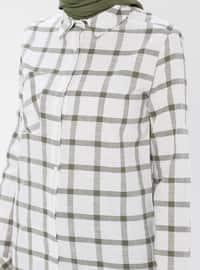 Checkered - Point Collar -  - Tunic