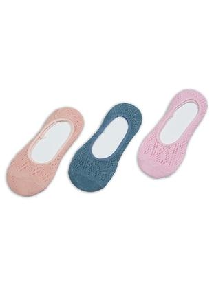 Pink - Petrol - Salmon -  - Socks