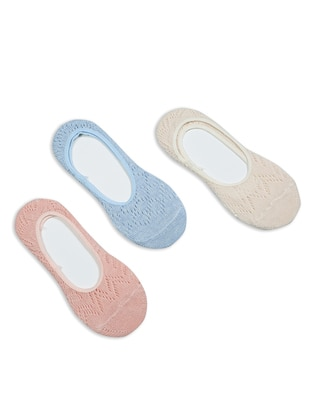 Blue - Salmon - Nude -  - Socks