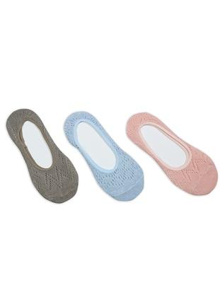 Blue - Salmon - Mink -  - Socks