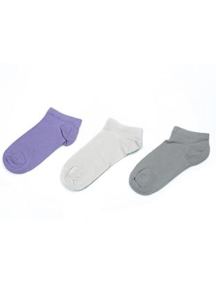 Smoke - Purple - Nude -  - Socks