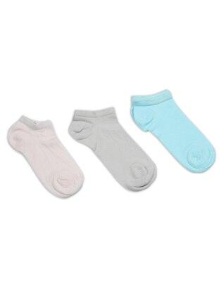 Pink - Sea-green - Nude -  - Socks