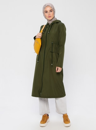 Khaki - Khaki - Unlined - Trench Coat