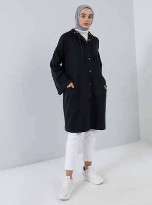 Navy Blue - Unlined -  - Topcoat