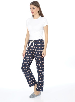 Navy Blue - Nude - Multi -  - Pyjama