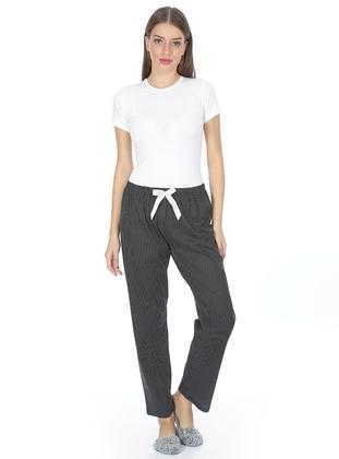White - Black -  - Pyjama - AKBENİZ