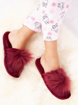 Sandal - Maroon - Home Shoes