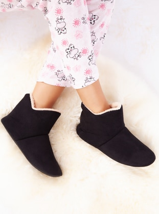 Boot - Black - Home Shoes - Ayakkabı Havuzu