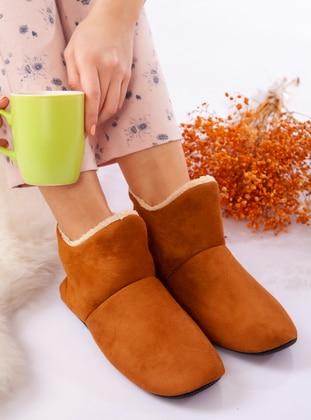 Boot - Tan - Home Shoes - Ayakkabı Havuzu