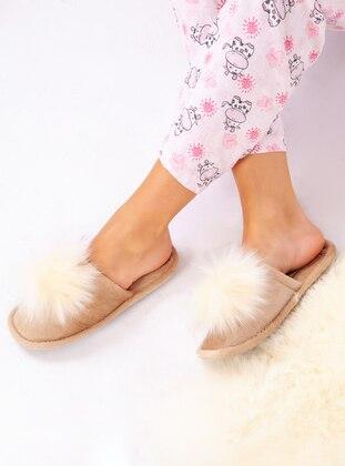 Sandal - Mink - Home Shoes - Ayakkabı Havuzu
