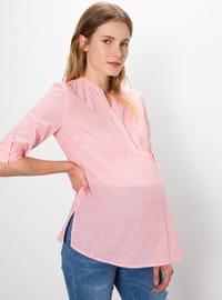 Orange - Maternity Blouses Shirts