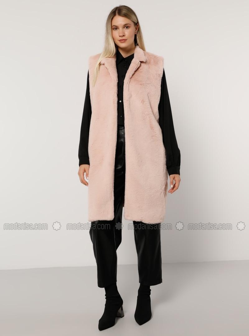 Powder - Shawl Collar - Plus Size Vest