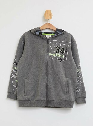 Gray - Boys` Cardigan