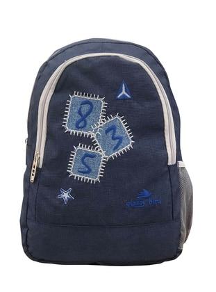 Navy Blue - Backpack - Bag - Fudela