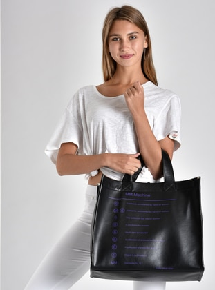 Purple - Black - Shoulder Bags
