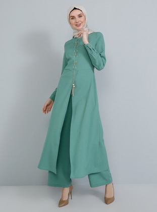 Green Almond - Unlined - Crew neck - Jumpsuit
