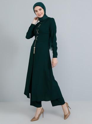 Emerald - Unlined - Crew neck - Jumpsuit