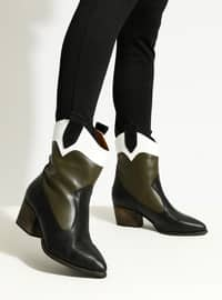 White - Black - Green - Boot - Boots