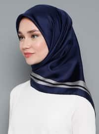 Multi - Plain - %100 Silk - Twill - Scarf