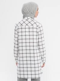 Black - Checkered - Point Collar -  - Tunic