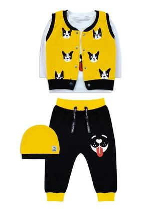 Crew neck - - Unlined - Yellow - Baby Suit
