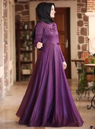 Purple - Muslim Evening Dress