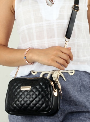 Black - Shoulder Bags - Madame Adel