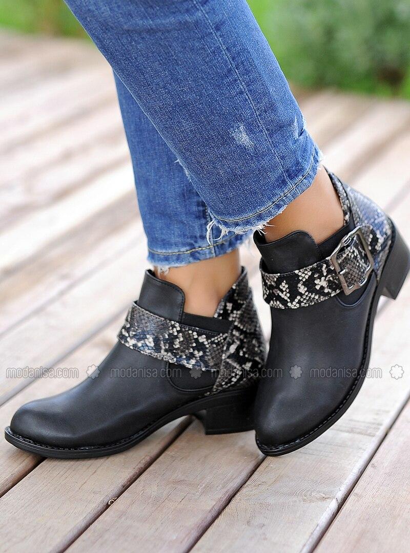 Beige - Black - Boot - Boots