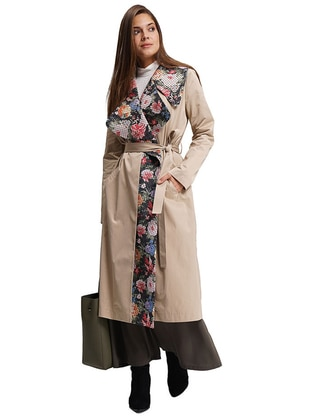 Beige - Multi - Unlined -  - Trench Coat