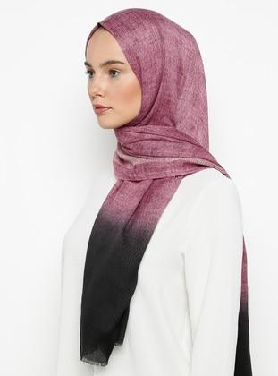 Purple - Black - Printed - Shawl