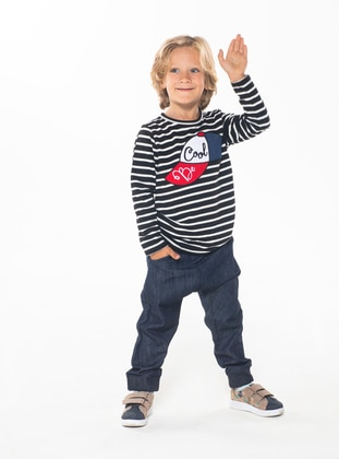 Crew neck -  - Unlined - Multi - Boys` Suit