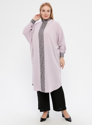 Lilac - Polo neck - Tunic