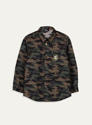 Printed - Green - Boys` Shirt - LC WAIKIKI