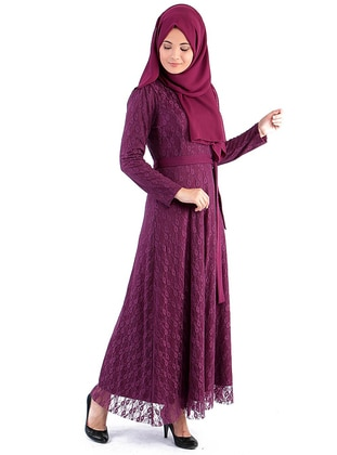 Plum - Crew neck -  - Dress